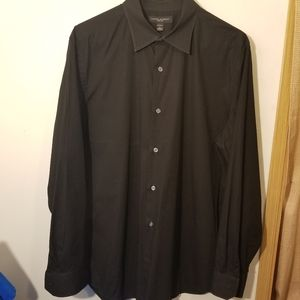 Banana Republic black dress shirt L